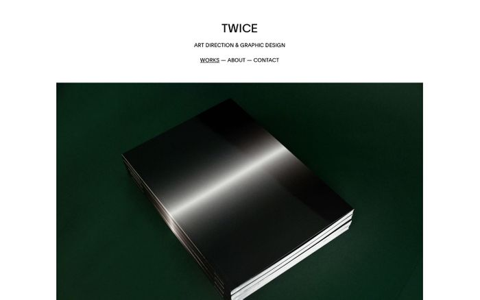 Screenshot of TWICE - Art Direction & Graphic Design