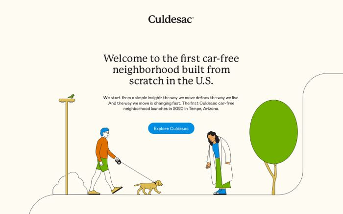 Screenshot of Culdesac | Experience Someplace Better