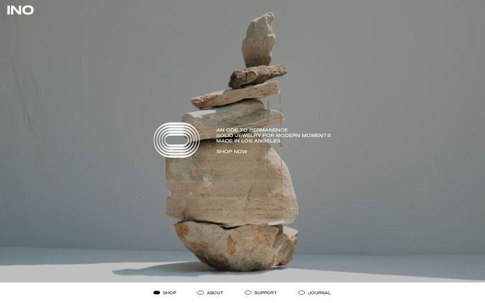 Screenshot of Ino website
