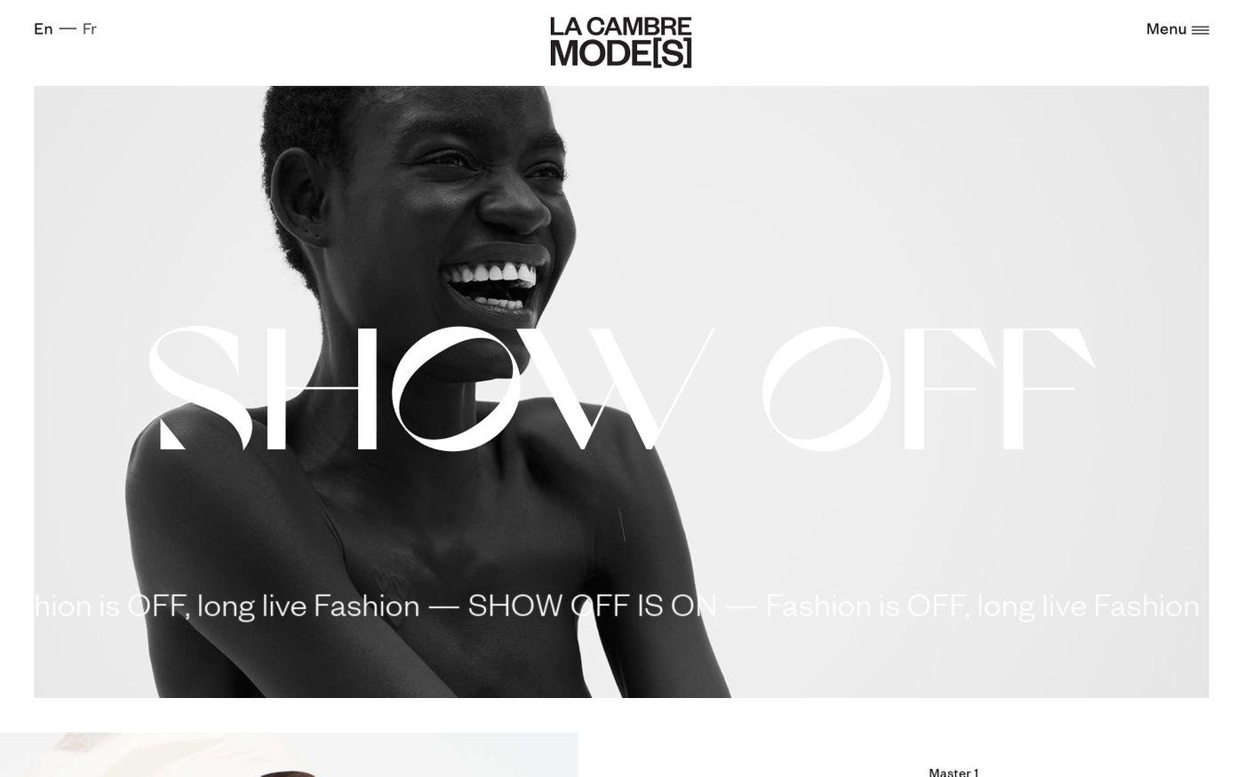 Screenshot of La Cambre Modes website