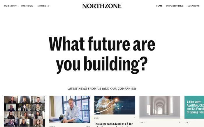 Screenshot of Northzone website