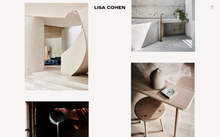 Screenshot of Lisa Cohen website