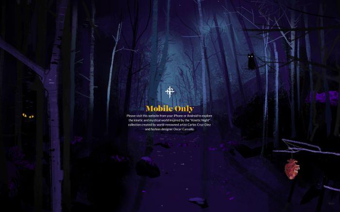 Screenshot of Kinetic Night - A Kinetic World | Oscar Carvallo Paris