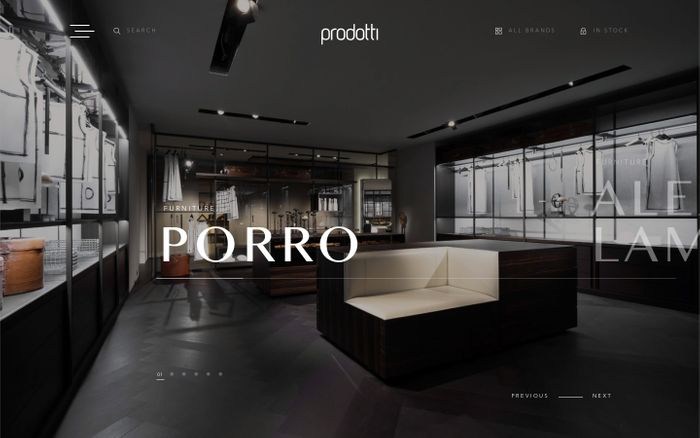 Screenshot of Prodotti — Indonesia Luxury Furniture