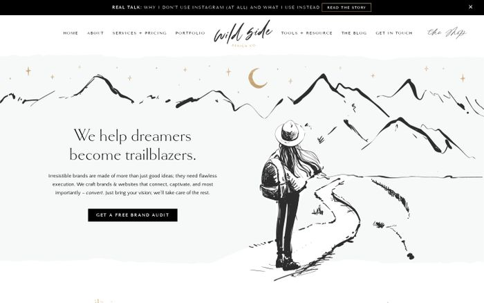 Screenshot of Wild Side Design Co. | Adventurous branding for untameable ideas