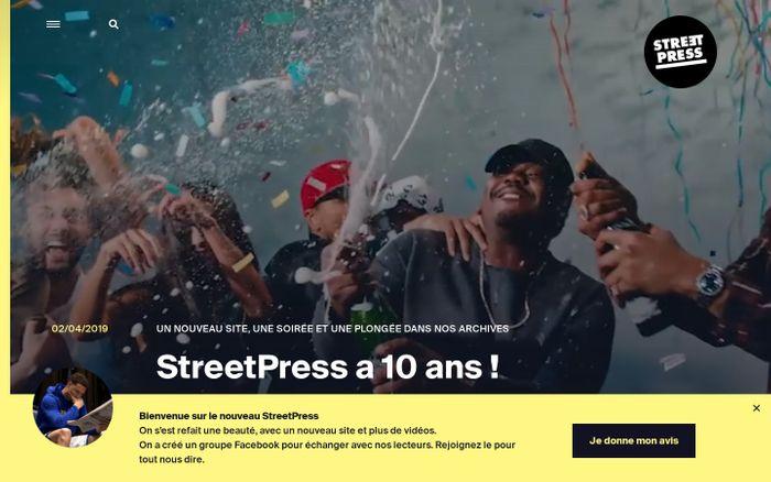 Screenshot of StreetPress | Le magazine urbain