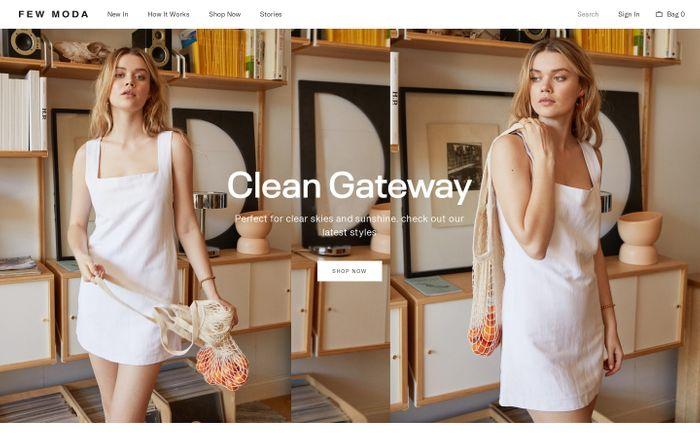 Screenshot of Few Moda website