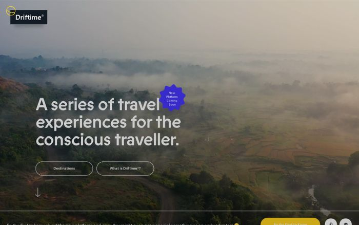 Screenshot of Driftime® | Ethical & Sustainable Travel