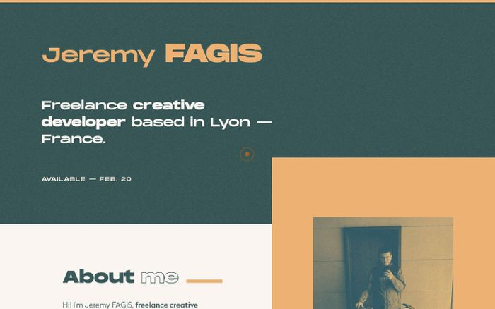 Screenshot of Jeremy FAGIS — Freelance creative developer