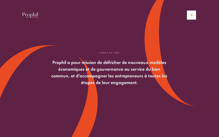 Screenshot of Prophil | Conseil et Recherche au service du bien commun