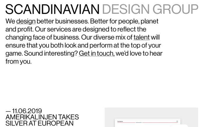 Screenshot of SDG | Scandinavian Design Group