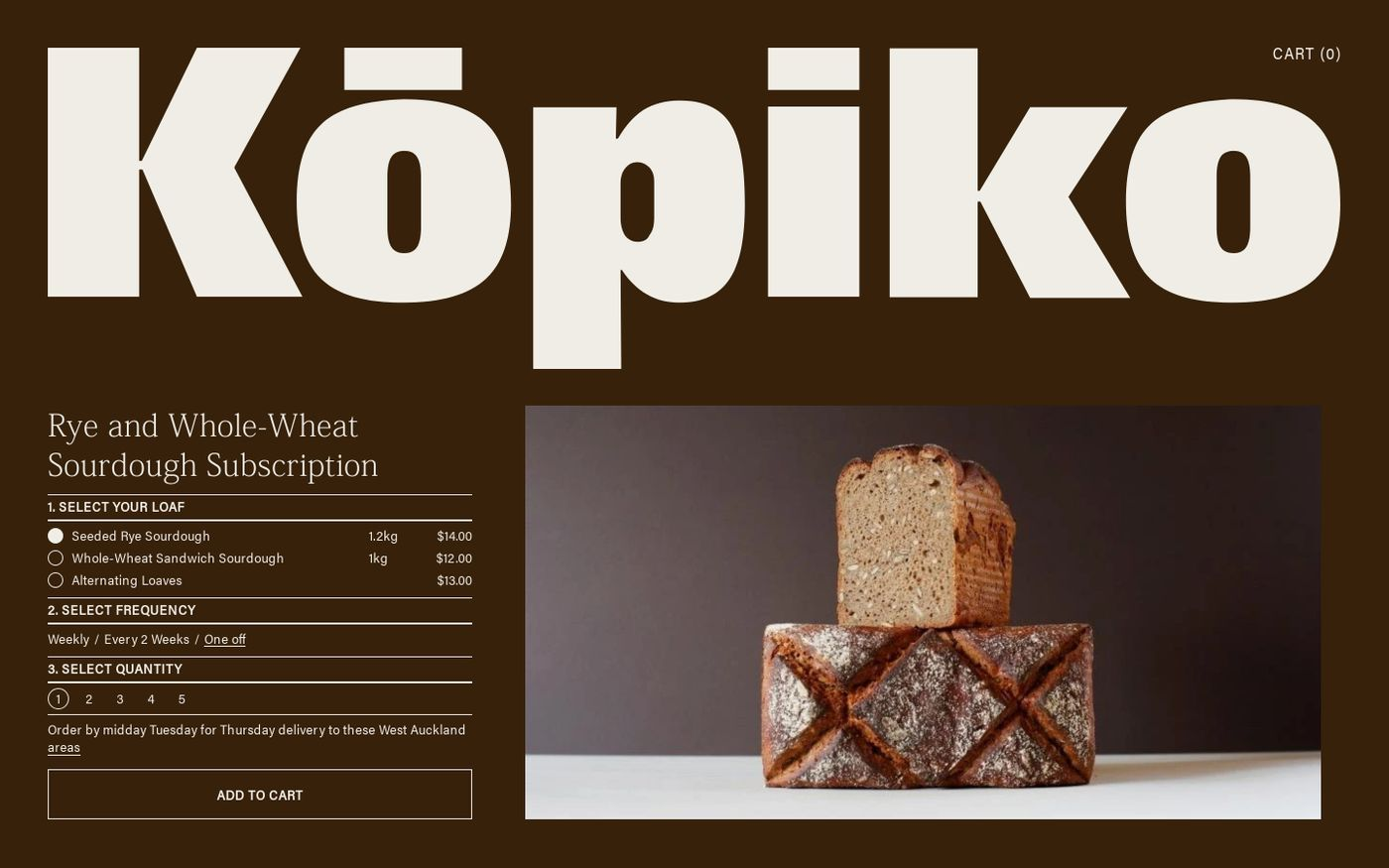 Screenshot of Kōpiko website