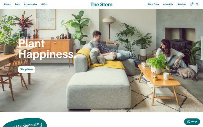Screenshot of The stem website