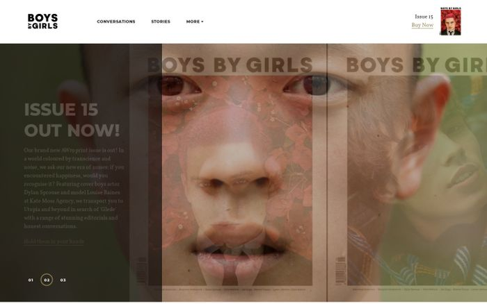 Screenshot of Boys By Girls | Menswear magazine with soul