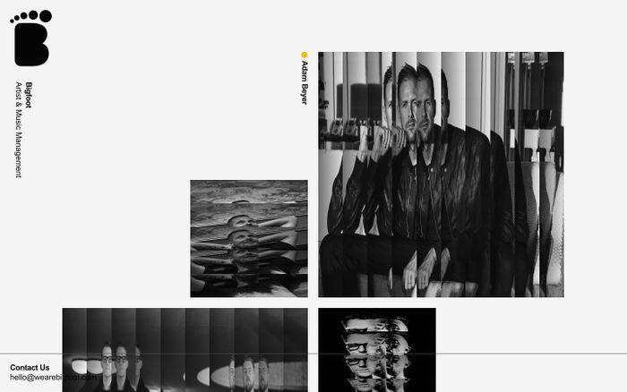 Screenshot of Bigfoot Music Management website
