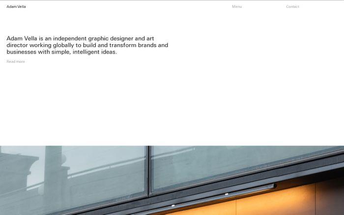 Screenshot of Adam Vella website