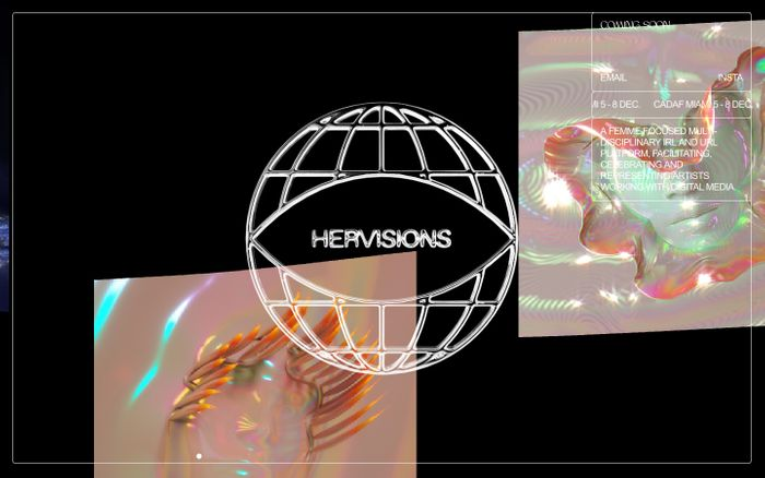 Screenshot of HERVISIONS.WORLD