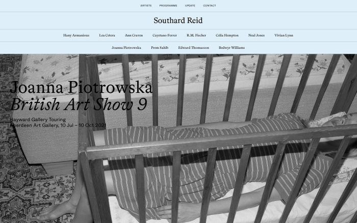 Screenshot of Southard Reid website