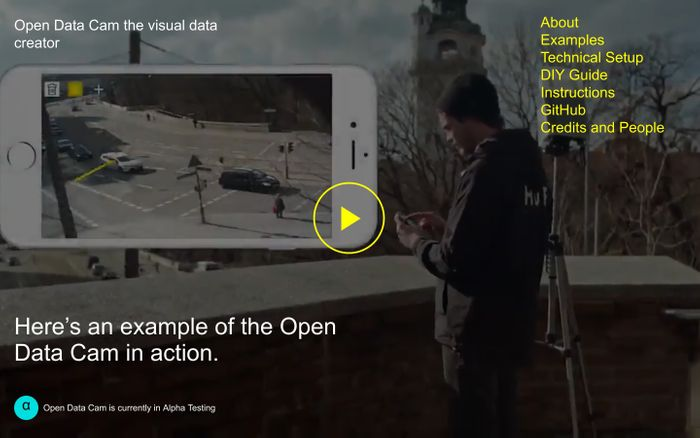 Screenshot of Open Data Cam - moovel lab