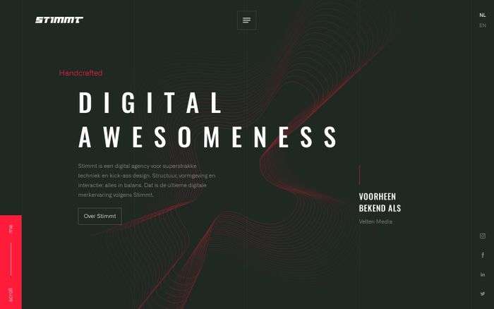 Screenshot of Stimmt - Digital awesomeness
