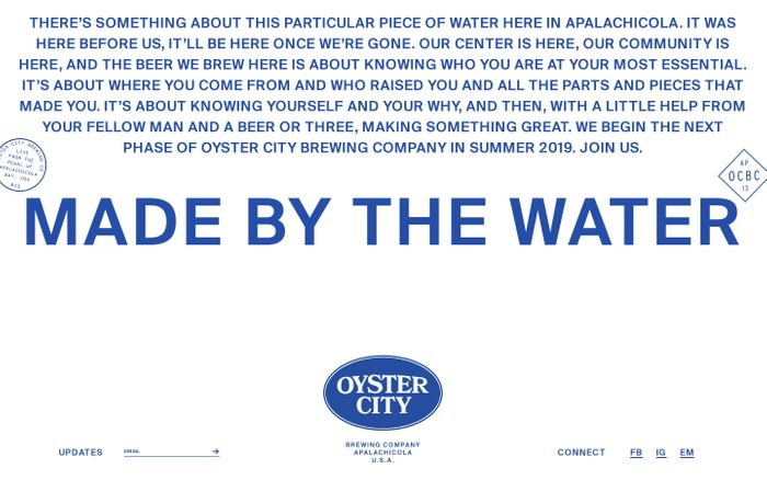 Screenshot of  Oyster City Brewing