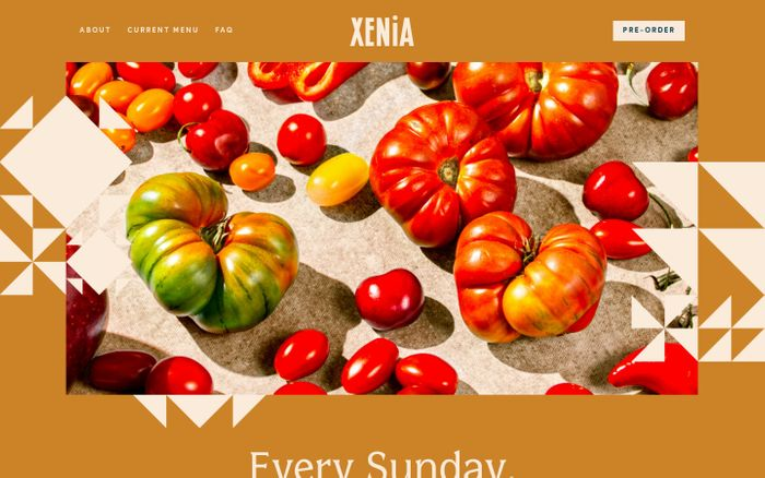 Screenshot of Xenia website