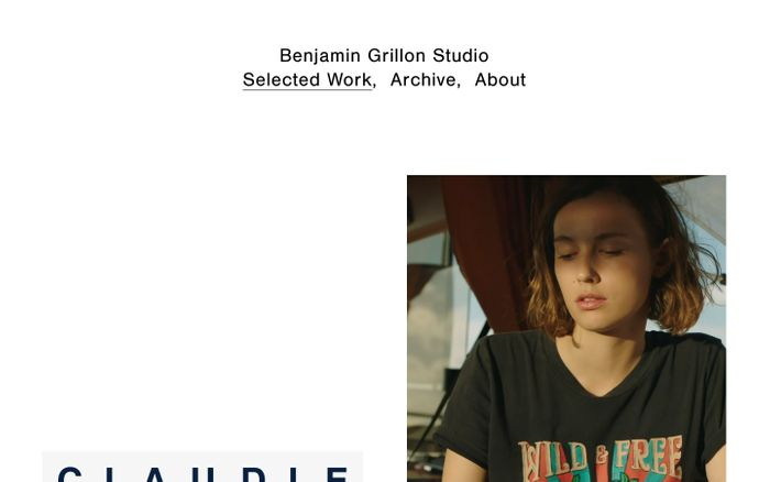 Screenshot of Benjamin Grillon
