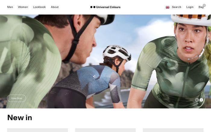 Screenshot of Universal Colours website