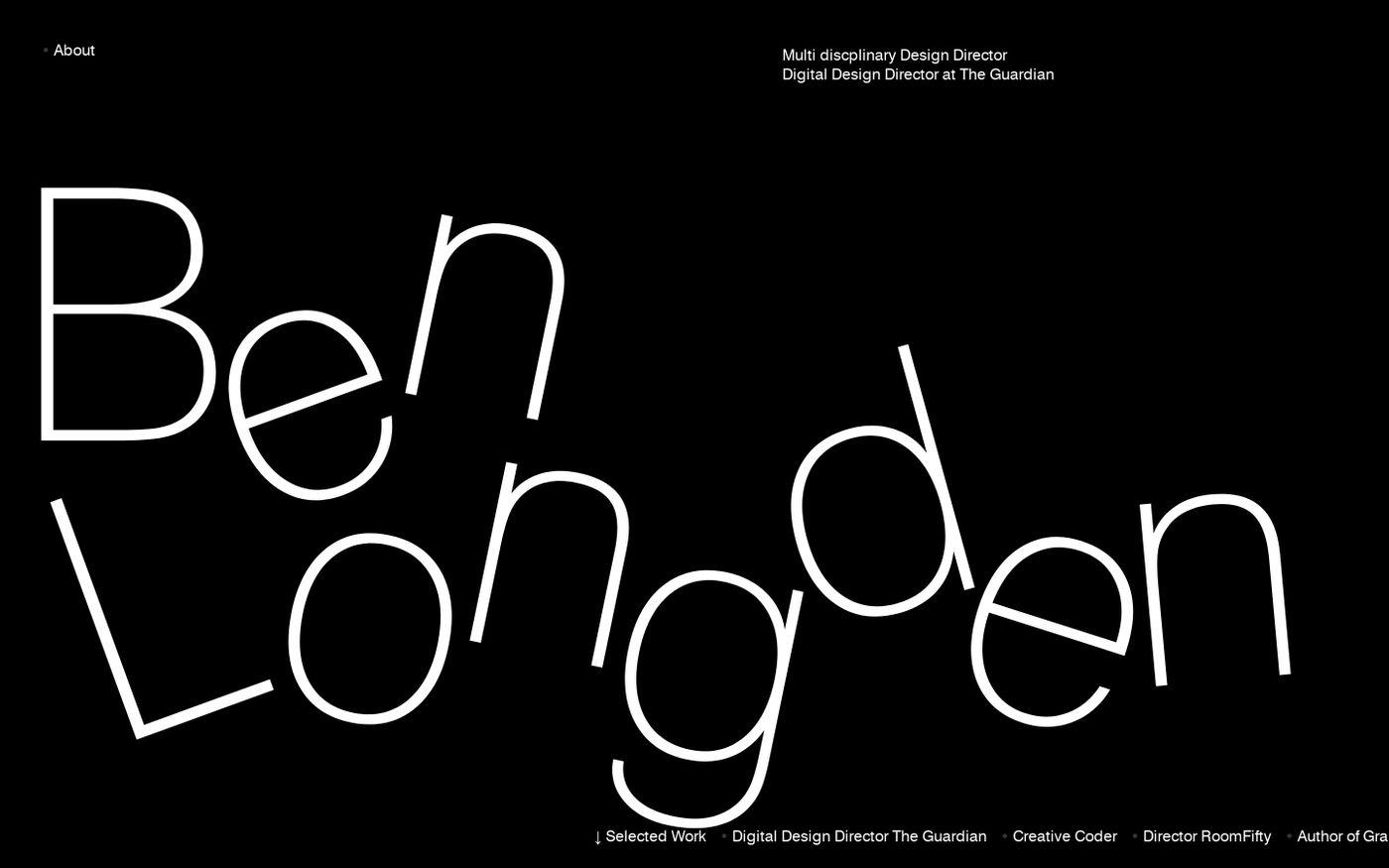 Screenshot of Ben Longden website
