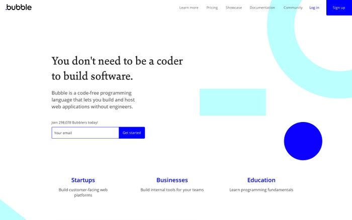 Screenshot of Visual Programming | Bubble