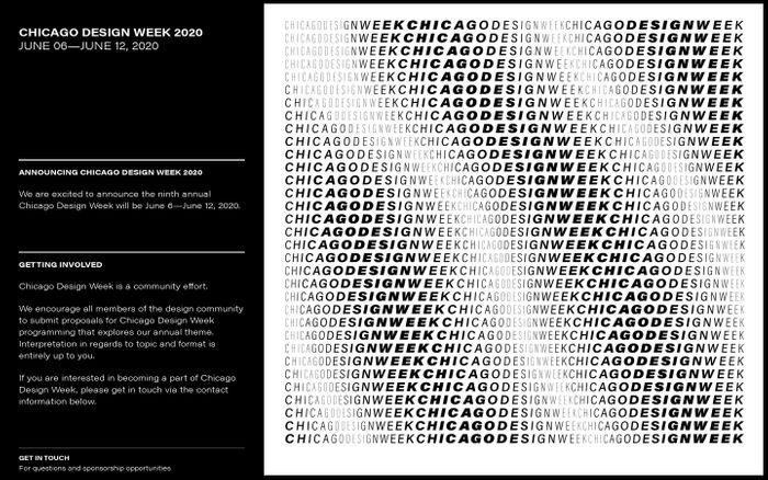 Screenshot of Chicago Design Week 2020