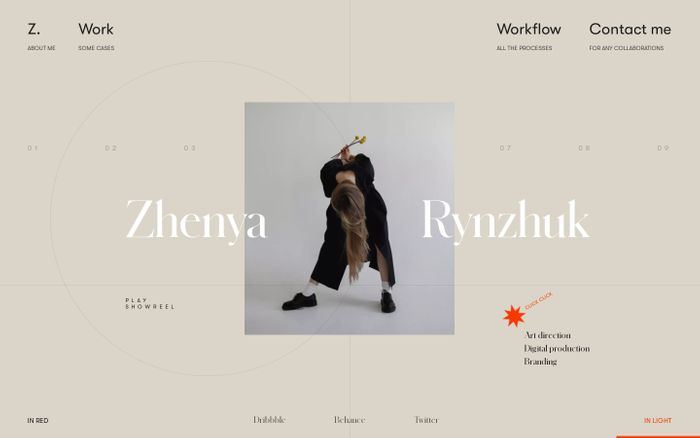 Screenshot of Zhenya Rynzhuk website