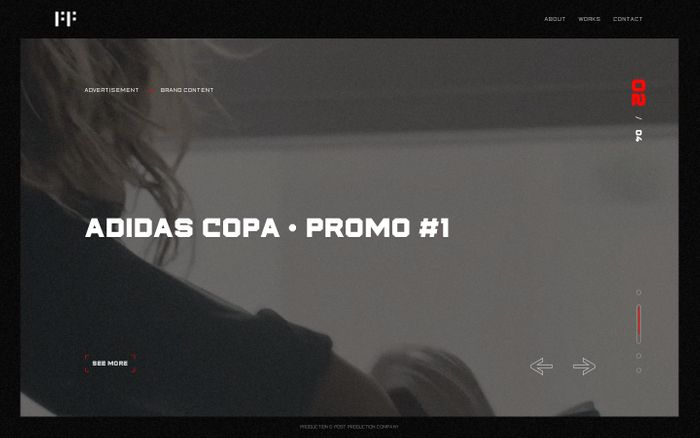 Screenshot of First Frame website