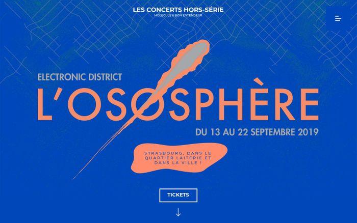 Screenshot of Accueil – L'Ososphère 2019