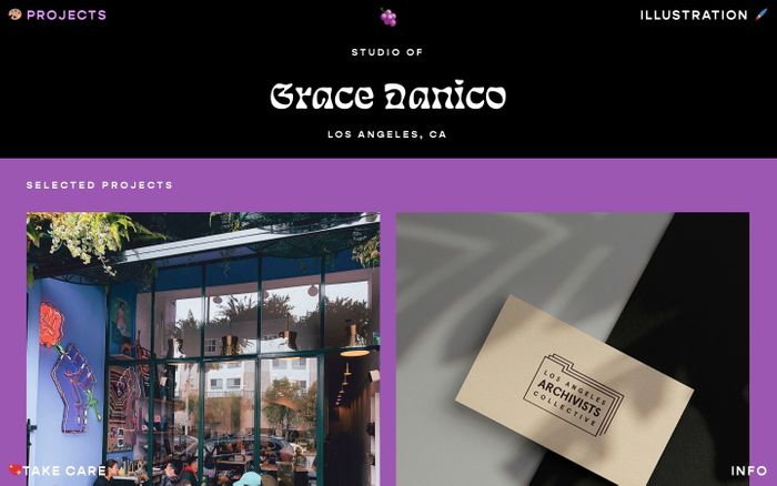 Screenshot of Grace Danico website