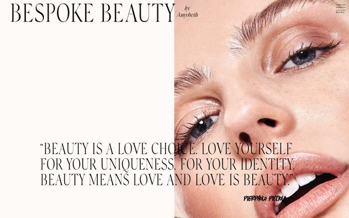 Screenshot of Bespoke beauty