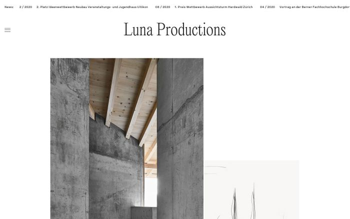Screenshot of Luna Productions