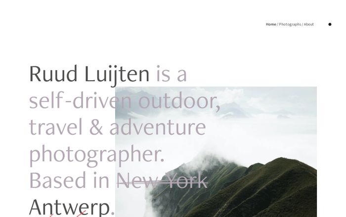 Screenshot of Ruud Luijten website