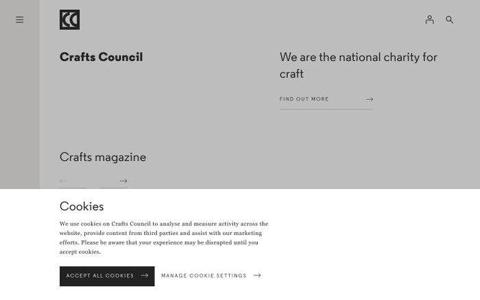 Screenshot of Crafts Council