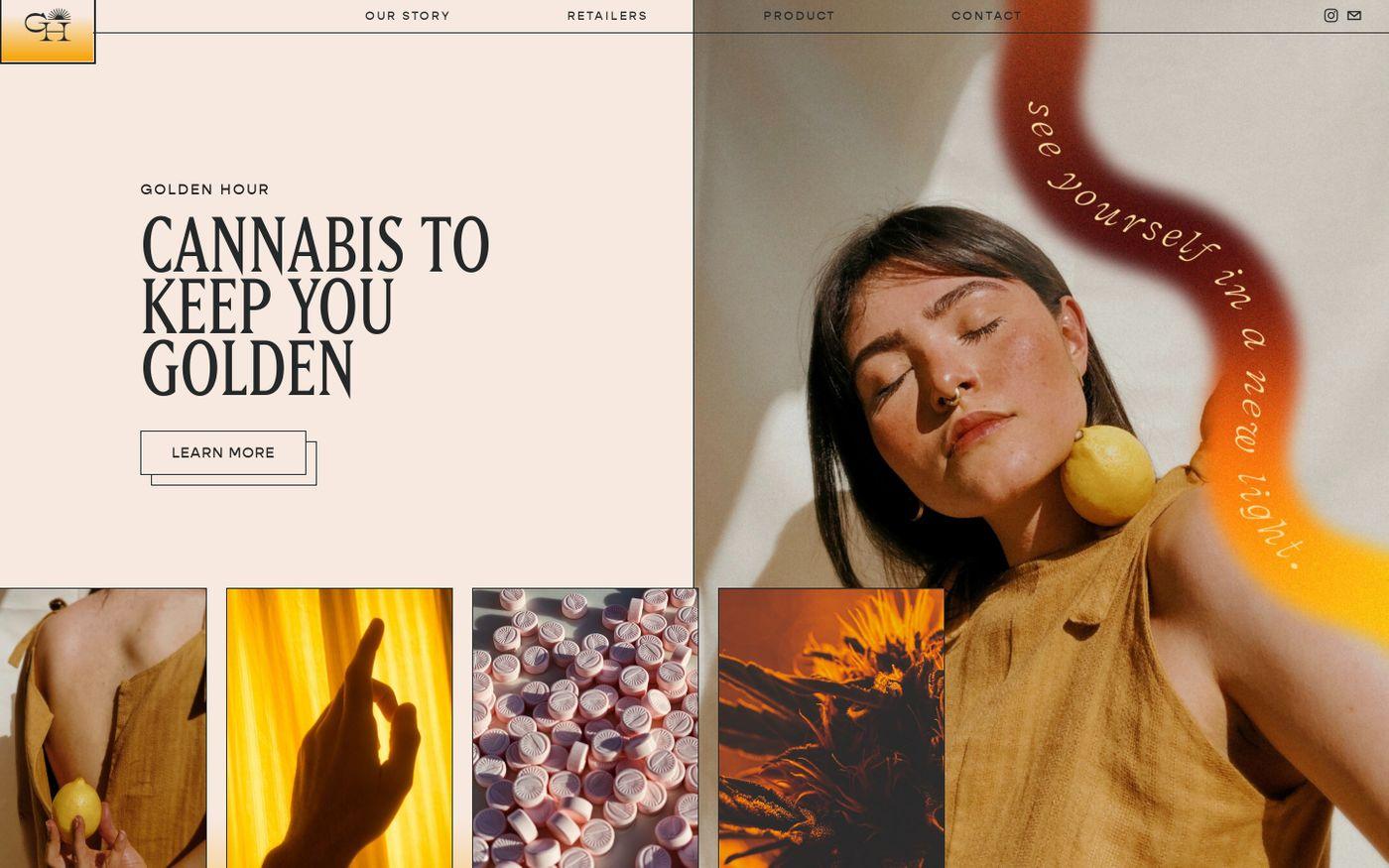 Screenshot of Golden hour website