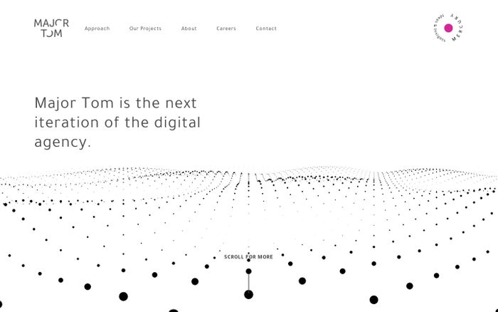 Screenshot of Major Tom   Digital Agency in Toronto, New York, Vancouver