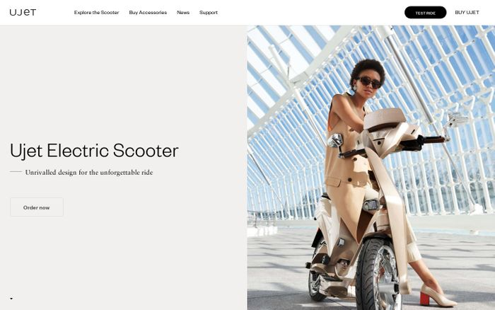 Screenshot of Ujet Electric Scooter
