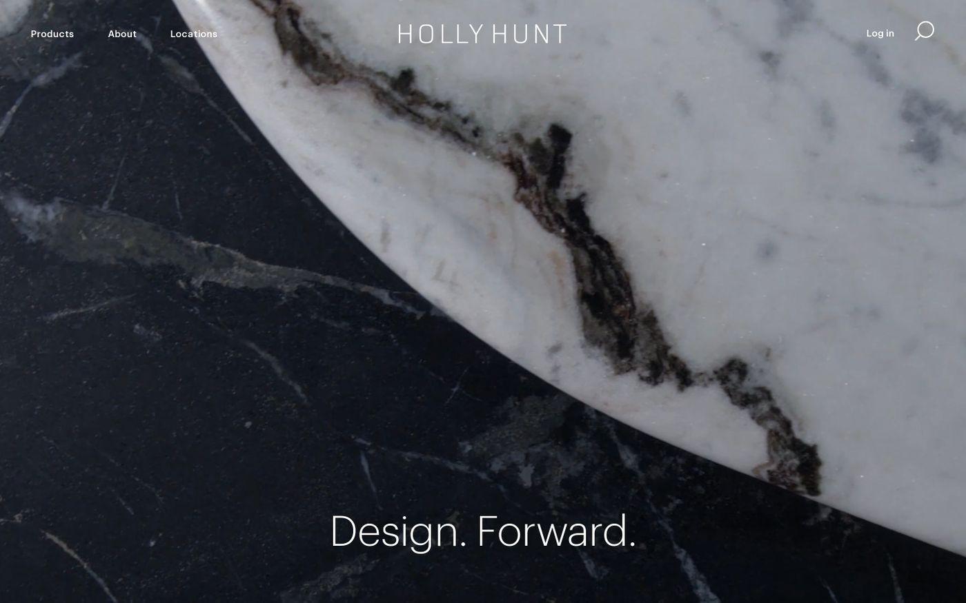 Screenshot of Holly hunt website