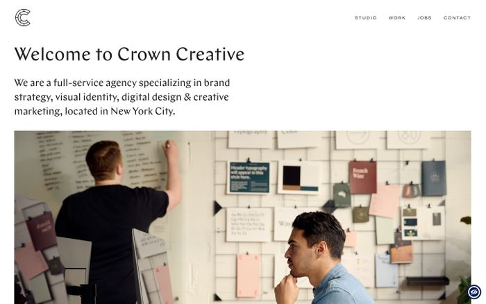 Screenshot of Crown Creative - A full-service creative agency in New York City.