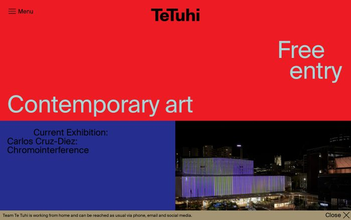 Screenshot of TeTuhi website