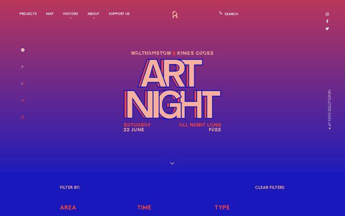 Screenshot of Art Night