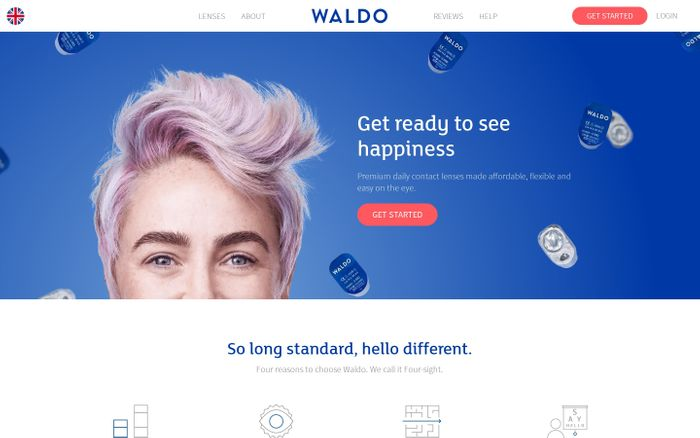 Screenshot of Waldo Daily Contact Lenses