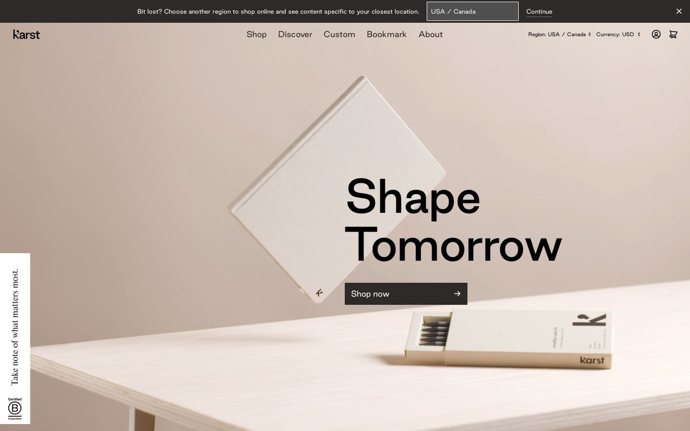 Screenshot of  Karst website