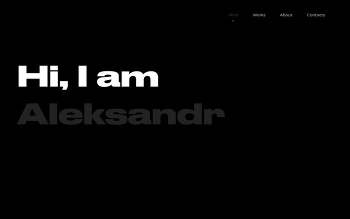 Screenshot of Aleksandr – Digital ui/ux designer