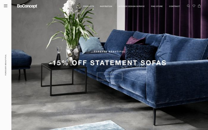 Screenshot of Modern & Contemporary Furniture Design | BoConcept